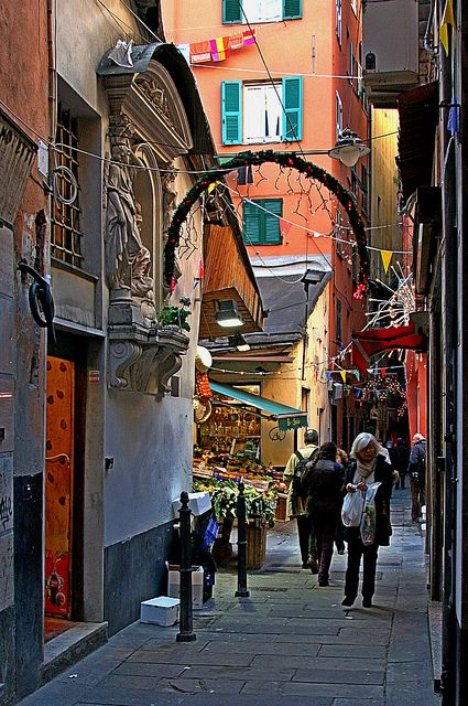 Centro Congressi, Genoa, Italy The narrow streets are amazing!  We've been in so many old cities but Genoa...you grew up knowing about Christopher Columbus and Genoa...just an extra wow factor after all these years....