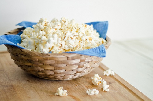 How to make popcorn on the stove-top. I just tried this and it's probably the best home-made popcorn I've ever had.