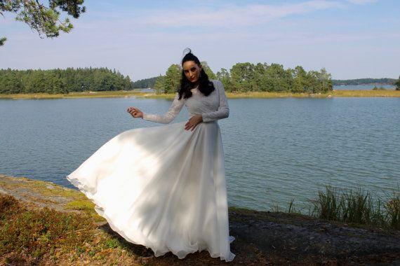 long sleeve wedding dress lace wedding by BatelBoutiqueBridal