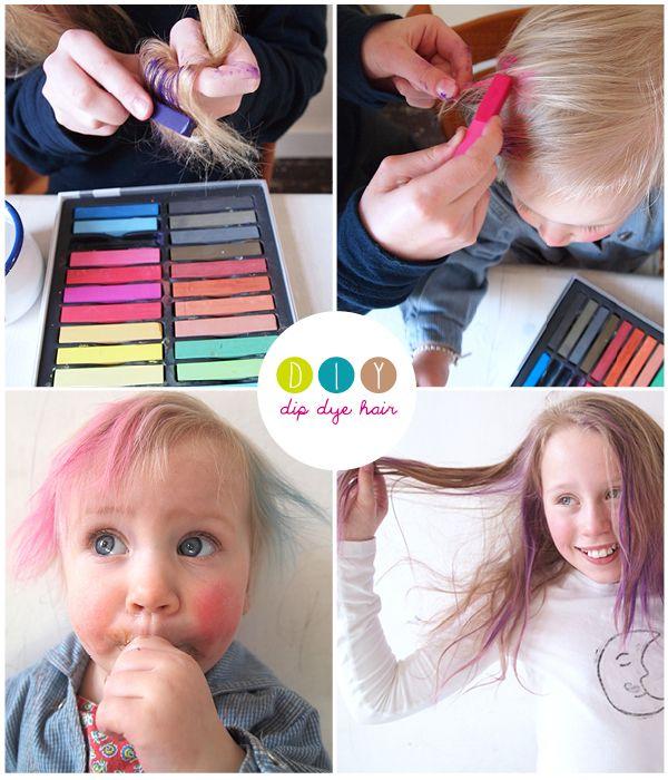 dip dye hair a fun #diy for #kids