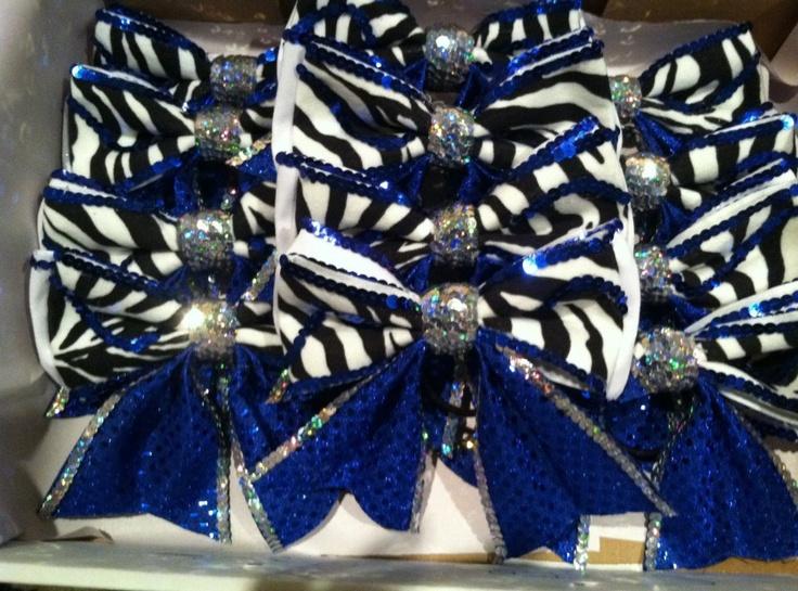 GLITZY CHEER BOWS!!! :: 2-Tier Glitz - Custom Glitzy Cheer Bows | Custom Competition Bows | Practice Bows | Rhinestone Logos | Personalized Beach Towels and Zebra Shorts