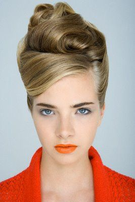 1960s style hair updo