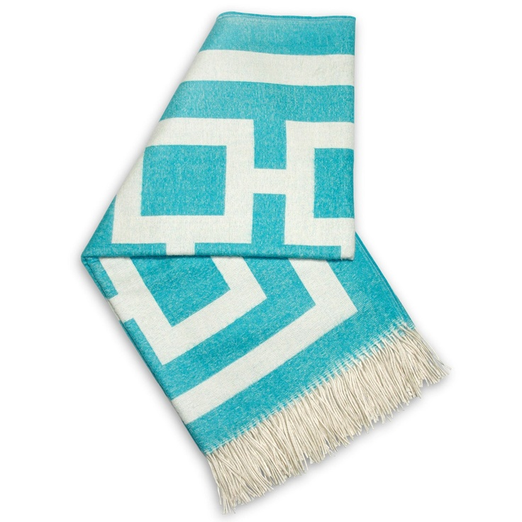 Nixon Turquoise Throw.To me this would be awesome on a closed in porch, a lot of plants in great color.