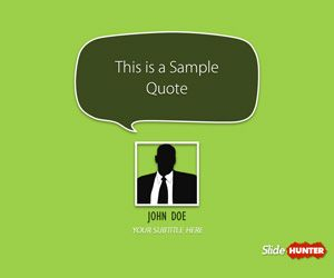 Quotes template for PowerPoint with custom layout to cite your authors in presentations #quote #powerpoint