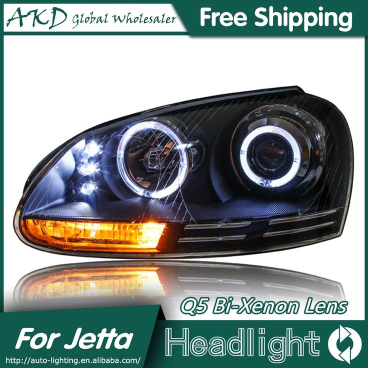 477.75$  Buy now - http://aliv66.worldwells.pw/go.php?t=32656338114 - AKD Car Styling for VW Jetta Headlights 2006-2010 Jetta Mk5 LED Headlight LED DRL Bi Xenon Lens High Low Beam Parking 477.75$