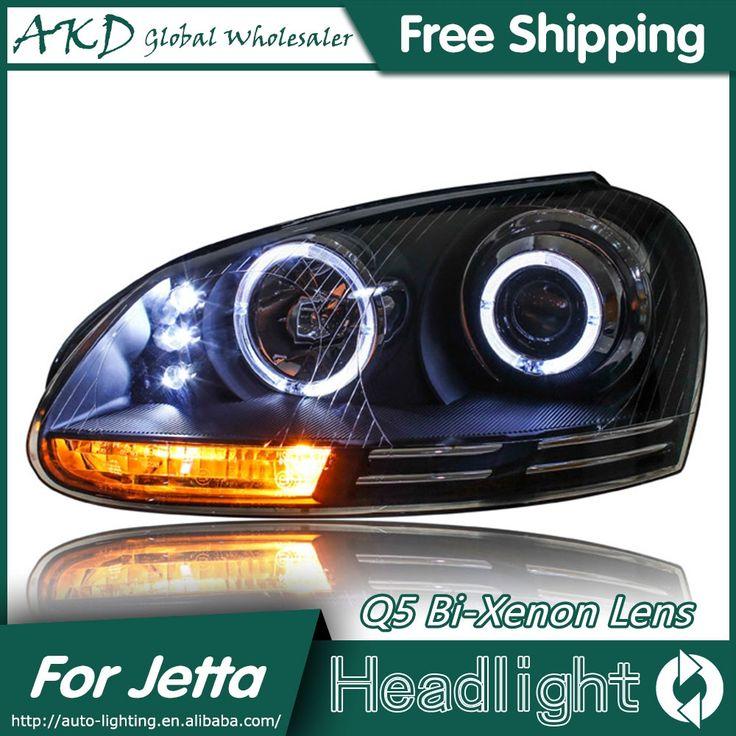 477.75$  Buy now - http://aliv66.worldwells.pw/go.php?t=32656338114 - AKD Car Styling for VW Jetta Headlights 2006-2010 Jetta Mk5 LED Headlight LED DRL Bi Xenon Lens High Low Beam Parking 477.75$