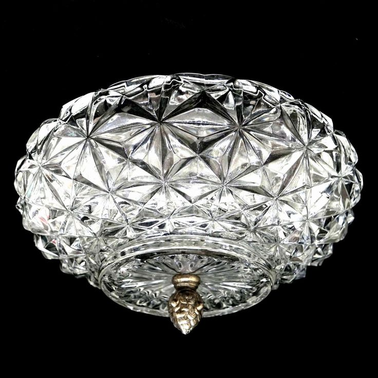 Vintage Pressed Glass, Ceiling Light Cover, Starburst or Dasiy Design, Large Round Lighting Cover, Hollywood Regency, Formal Mood Lighting by ClassicEndearments on Etsy