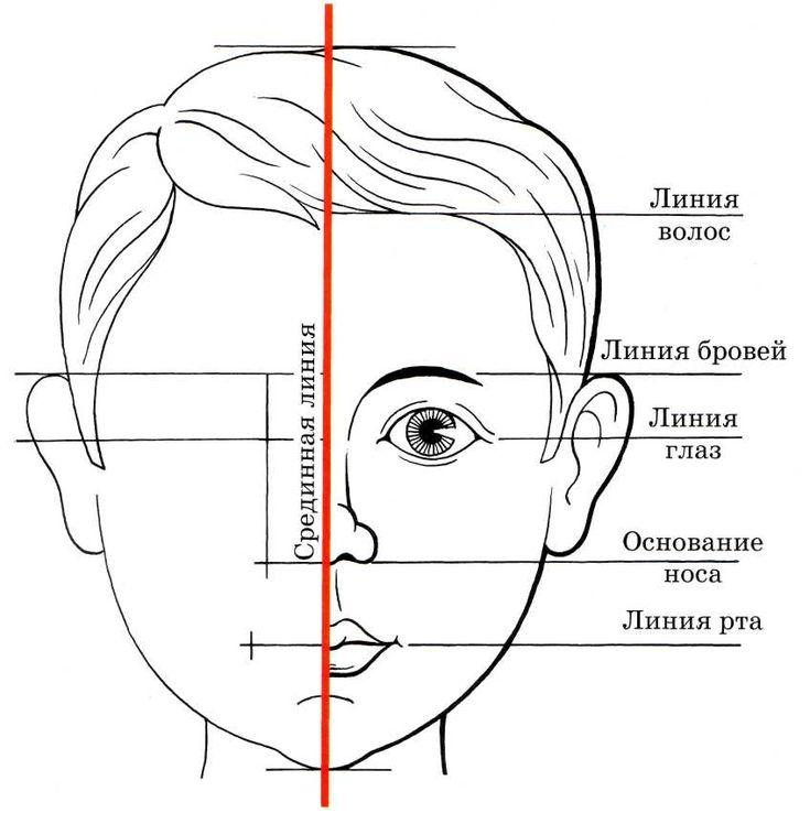 Мастер класс как рисовать лицо человека
