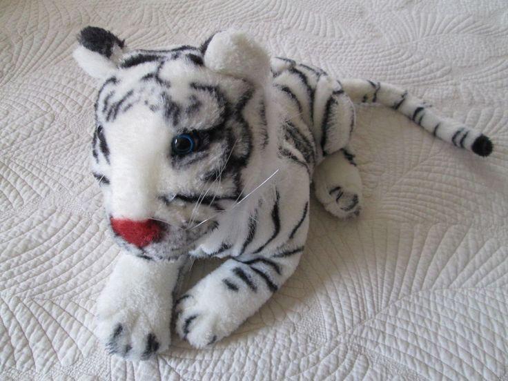 Medium Size White Tiger Stuffed Animal Stuffed Animals Plush Tiger Pillow Cuddle #na