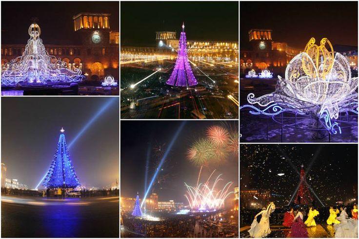 Yerevan Lights;  Happy New Year 2015