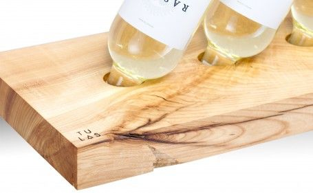 Simple wooden wine rack. Made of one piece of ash wood. It contains four bottles and six glasses. for polish orders: www.tulas.pl for international orders: https://www.etsy.com/listing/243962341/wooden-wine-rack-model-b-ash?ref=shop_home_active_2