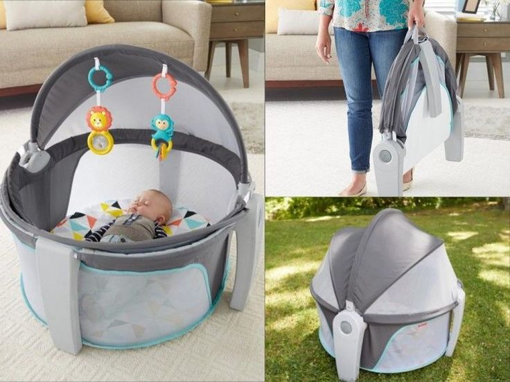 Baby Sleeper Bed Portable Newborn Infant Playmat Folding Travel Canopy Playard #BabySleeperBed
