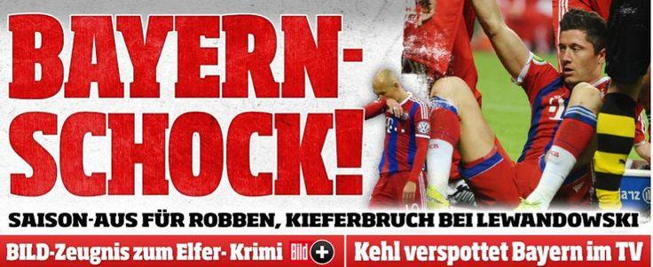 BILD Stuttgart @BILD_Stuttgart  ·  Apr 29  http://www.bild.de/sport/fussball/robert-lewandowski/kieferbruch-robben-saison-aus-40747296.bild.html … @FCBayern