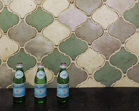alternated colors of arabesque tiles by tabarka - Arabesque Tile Backsplash