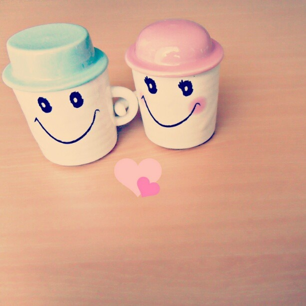 #cups#mugs#love#follower#like#yan_lee#couple#smile#romantic - @y3n_lee- #webstagram