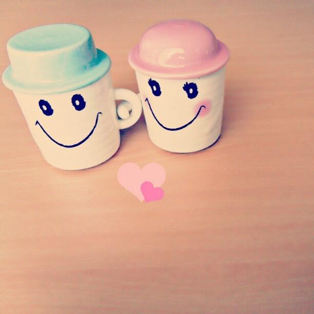 #cups#mugs#love#follower#like#yan_lee#couple#smile#romantic - @y3n_lee- #webstagram