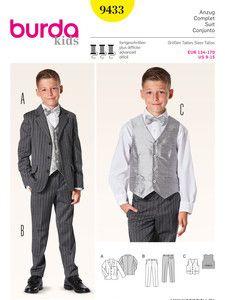 burda style: Kinder - Jungen - Anzüge & festliche Mode - Jungenanzug mit Weste