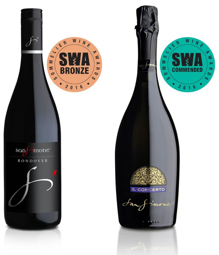 """We are glad to inform that our #Rondover Rosso #IGT delle Venezie 2013 has recieved the #Bronze medal and our #Prosecco DOC #Brut """"Il Concerto"""" has recieved #Commended at #SommelierWineAwards, #London"""