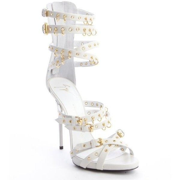 Giuseppe Zanotti Jeti off white leather strappy grommet platform... (£410) ❤ liked on Polyvore featuring shoes, sandals, heels, giuseppe zanotti, jeti off white, high heel shoes, high heeled footwear, ankle strap heel sandals, strap heel sandals and strappy high heel sandals #giuseppezanottiheelswhite