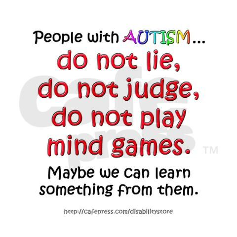 Love of autistic traits. Perhaps my mother in law could learn a thing or two before she opens her mouth.