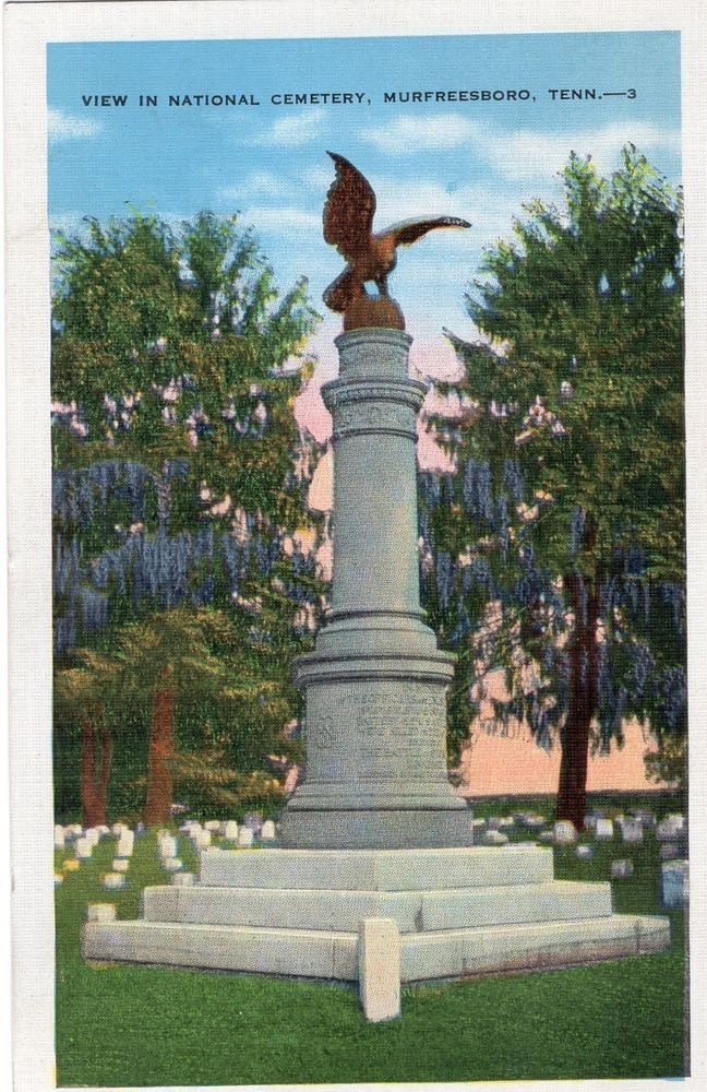 Murfreesboro, Tennessee TN ~ National Cemetery 1937 #
