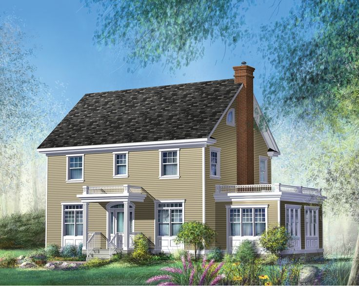 Plan 80606pm Two And A Half Story Colonial House Plan In 2021 Colonial House Plans Colonial House House Plans