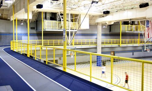 gymnasium with indoor track roof structure - Google Search ...