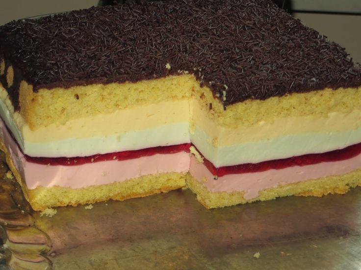 Domowe ciasta i obiady: Ciasto Tęczowy obłoczek