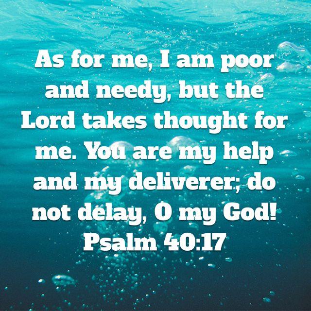 Psalm 40:17