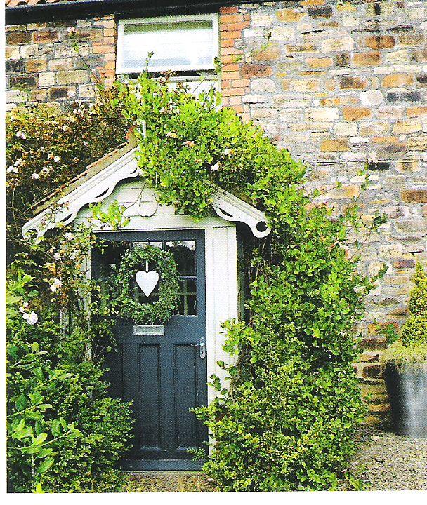 cottage door with heart