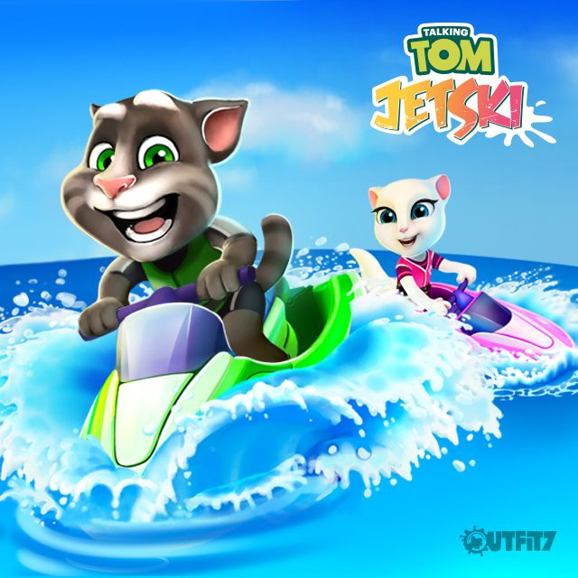 AWESOME NEW APP called Talking Tom Jetski is here!!! Challenge your friends for an adventurous water scooter ride xo, Talking Angela  #TalkingAngela #MyTalkingAngela #LittleKitties #TalkingTom #app #newapp #amazing #game #bestgame #ipad #ios #android #iphone #adventure #fun #TalkingTomJetski