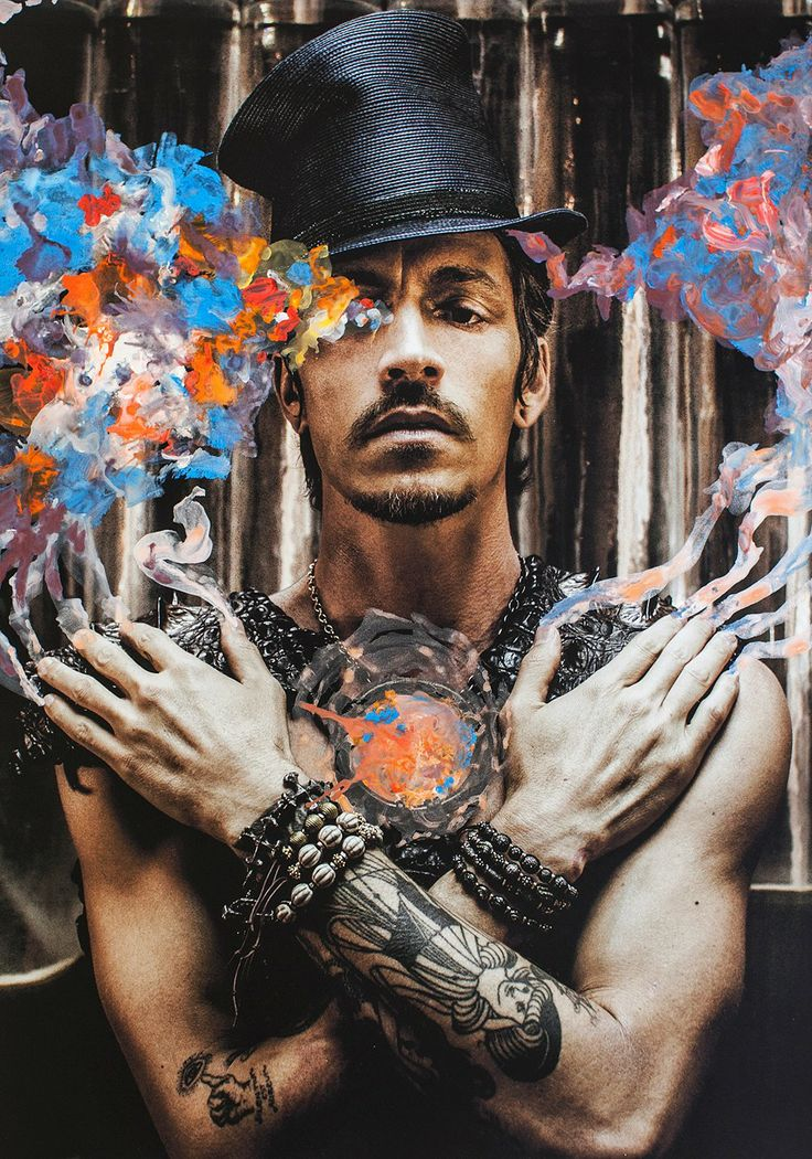 Brandon Boyd for All Hollow Magazine. This pic is pretty weird, but I really like the colors.