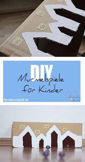 DIY Murmelspiele selber machen, Spiele mit Murmeln basteln