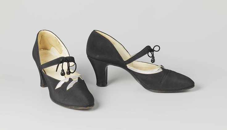 Women's satin shoes, ca. 1930.