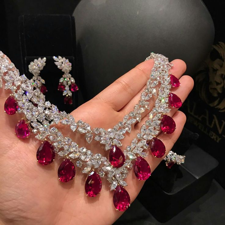 #alandJewellery. Exquisite Diamonds Rubies Necklace