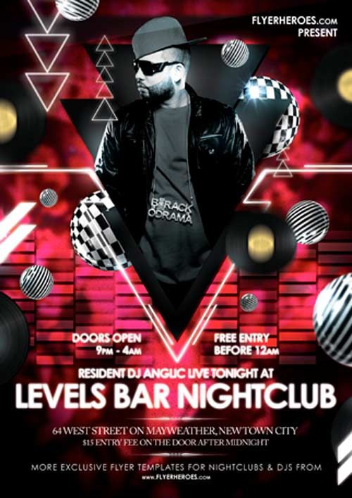The Best Flyer Template Images On Pinterest Flyer Design - Free nightclub flyer templates