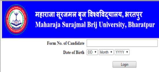 brij university admit card 2019  name wise university wise