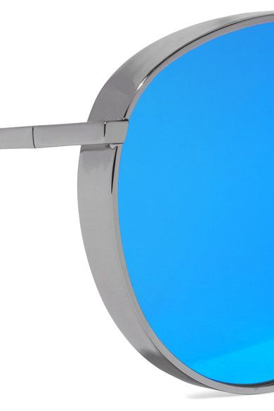 Gentle Monster - Big Bully Aviator-style Silver-tone Mirrored Sunglasses - Blue