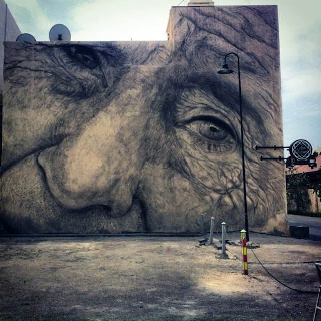 Streetart: Jorge Rodriguez-Gerada New Mural in Barcelona (+ Mural Bahrain | 8 Pictures + Clip) > Design und so, Illustrationen, Paintings, Streetstyle, urban art > bahrein, mural, piece, Rodriguez-Gerada, spain, streetart