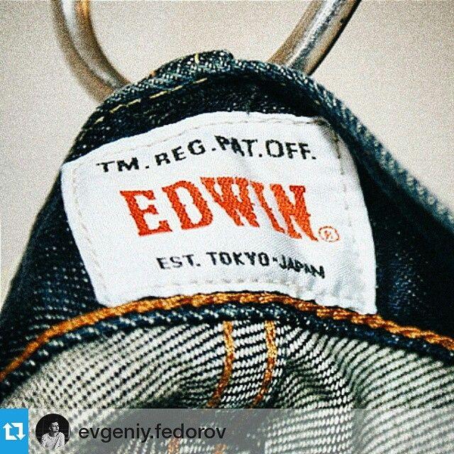 """«#Repost @evgeniy.fedorov ・・・ Компания """"Edwin"""", начала с продажи джинсов американского производства на территории Японии в 1947 году. А как итог, огромное…»"""