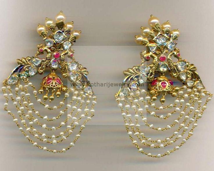 Earrings Jhumkis Chandbali Gold Jewellery Erjs6889 At Usd 2 133 15 And Gbp 1 623 63