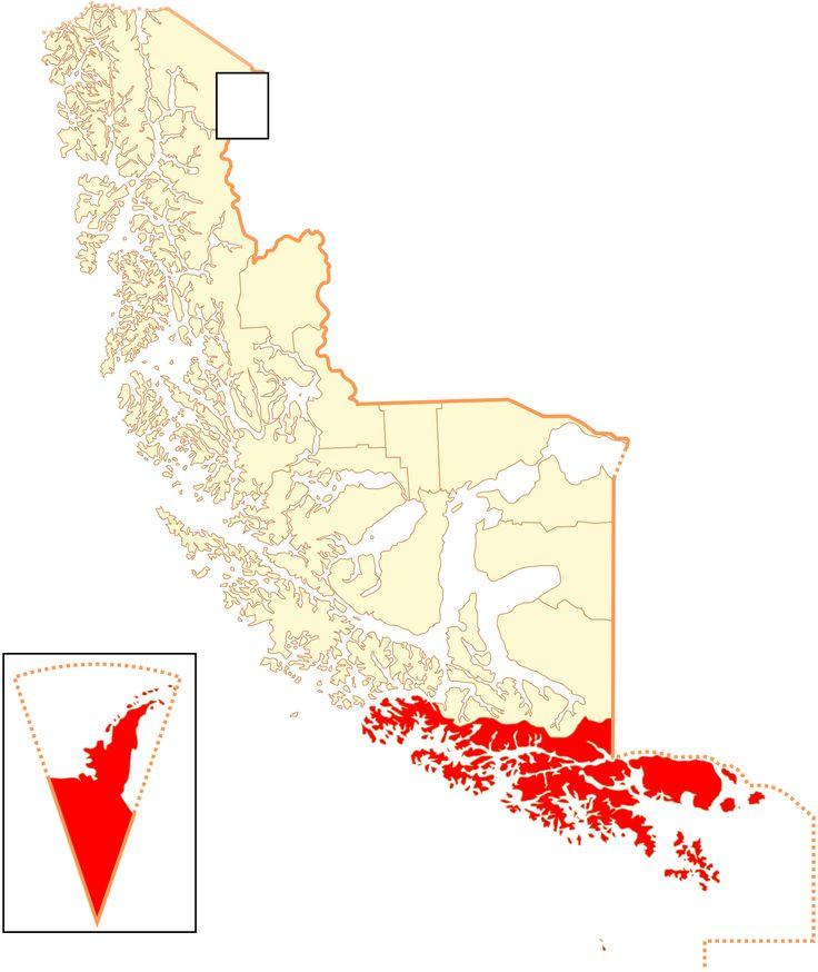 La Provincia de la Antártica Chilena. Pertenece a la XII Región de Magallanes y de la Antártica Chilena, que se compone de las siguientes comunas: Navarino, capital Puerto Williams, y el Territorio Chileno Antártico. En la zona norte, el sector Paso Drake que abarca el archipiélago al sur de la Tierra del Fuego, además del sector sur de dicha isla (Estancia Yendegaia). Sus principales islas son: Navarino, Hoste, Lennox, Picton, Nueva, Wollaston,Diego Ramirez y  Cabo de Hornos…