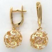 Каталог / Серьги / Серьги 01С114561 - Ювелирные украшения из золота, золотые кольца и серьги с бриллиантами, ювелирные изделия в интернет-магазине GOLDMAS.RU