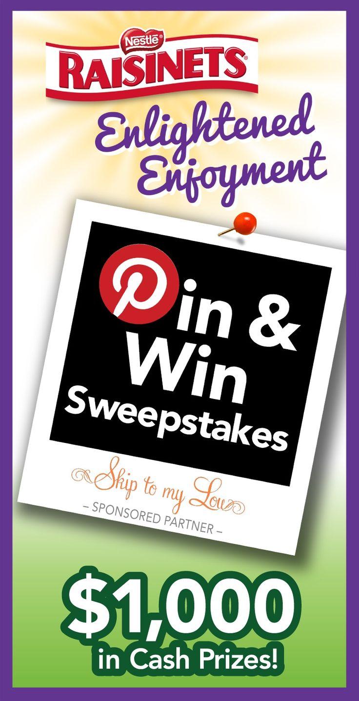 Pin & Win Sweepstakes #raisinets URL: http://www.skiptomylou.org/2012/09/11/low-fat-oatmeal-raisinet-cookie-recipe/
