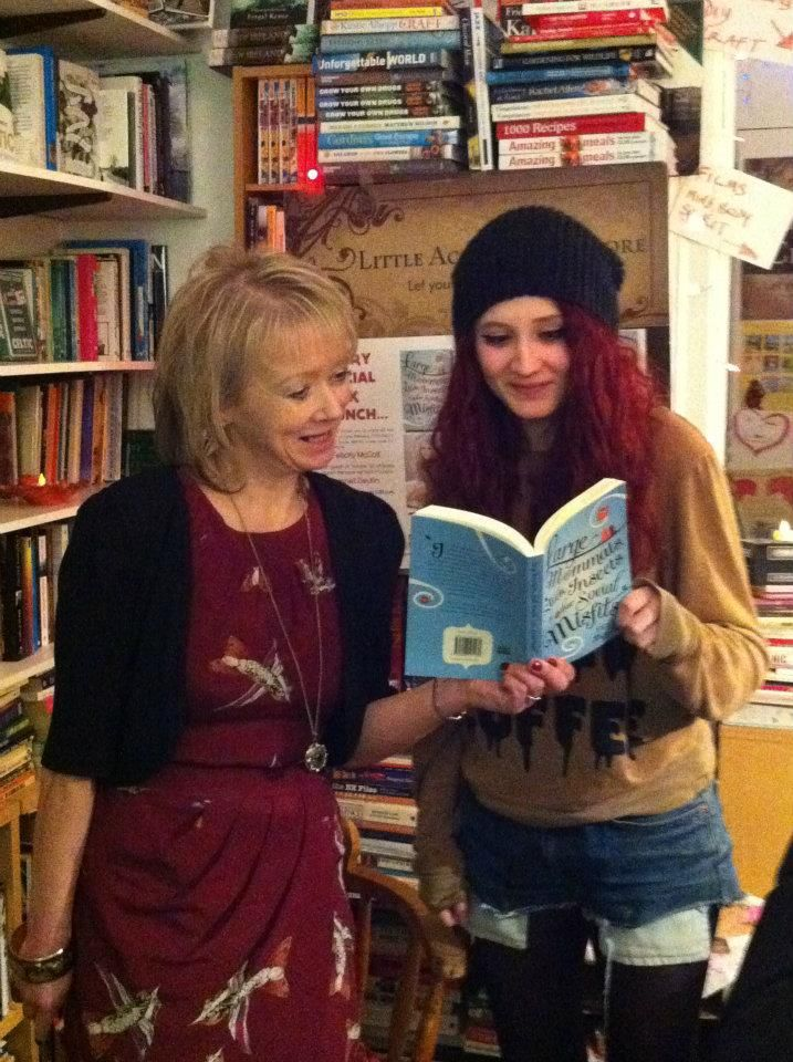 Felicity and Janet having a read