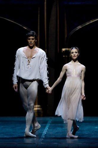 Roberto Bolle and Alina  Cojocaru in Romeo and Juliet. Alla Scala Theatre, Milan.