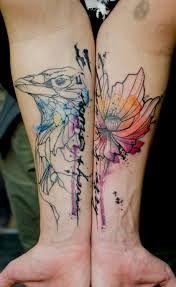 Znalezione obrazy dla zapytania tattoo watercolor
