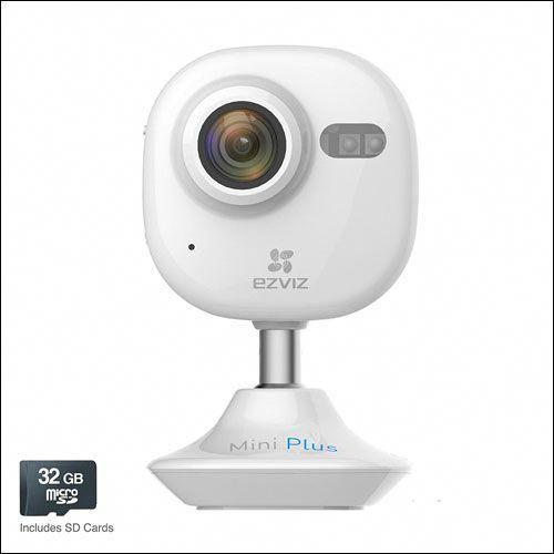EZVIZ Mini Plus Wi-Fi Video Security Camera Works with Alexa