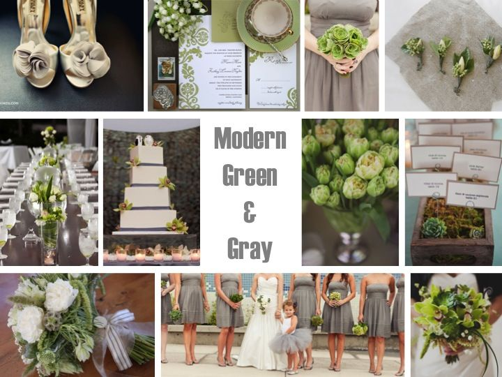 gray and green weddingGray And Green Wedding, Green Gray Wedding, Modern Green, Inspiration Boards, Colors Palettes, Colors Combinations, Colors Schemes, Flower Girls, Green Weddings
