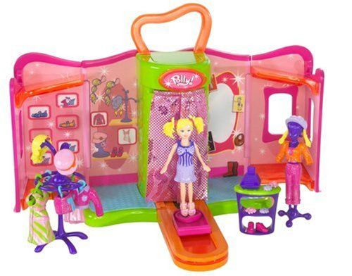 """Polly Pocket Quik-Clik Boutique with """"Magic"""" Dressing Room and Accessories Polly Pocket"""